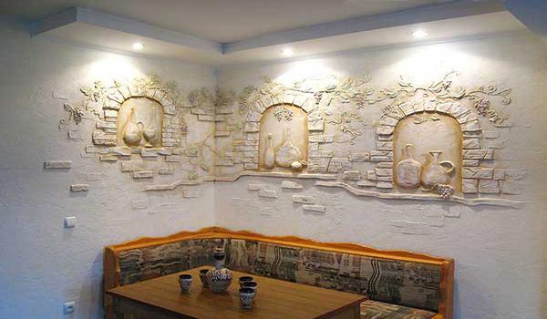 Лепнина на стену